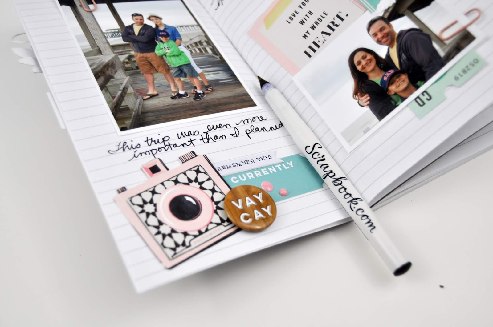 Best option for a Slick Writer pen is from Scrapbook.com. Writes easily on Traveler's Notebooks, cards, photos, and more! Learn more at www.jengallacher.com. #scrapbooking #lifeishandemade #scrapbookdotcom #jengallacher
