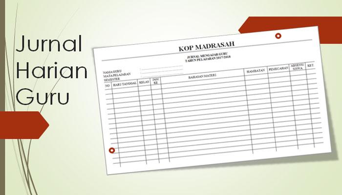Download Contoh Format Jurnal Harian Mengajar Guru Mata Pelajaran Kurikulum 2013