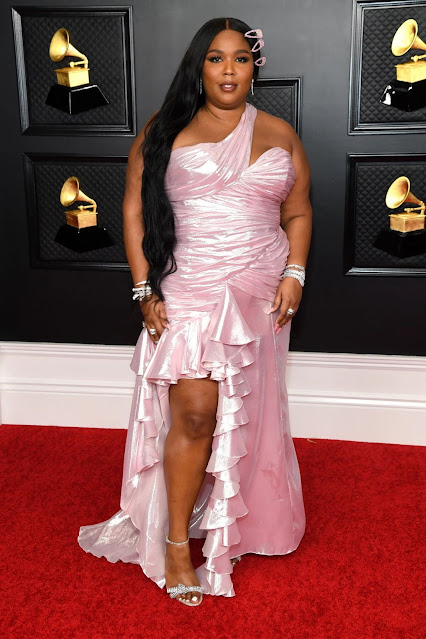 Lizzo at 2021 Grammy Awards in Los Angeles