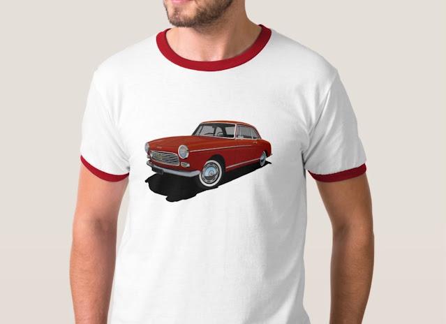 Retro red Peugeot 404 Coupé T-shirt