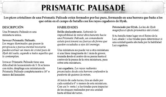 Prismatic Pallisade