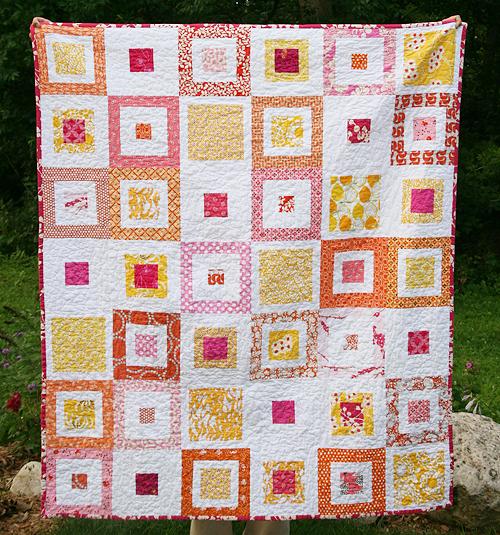 Lemon Squares Quilt designed by Faith Jones of Fresh Lemons Quilts