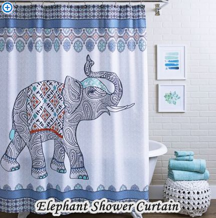 elephant walmart bathroom shower curtains