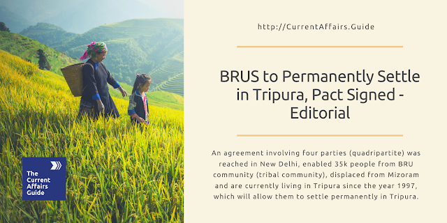 BRUS to Permanently Settle in Tripura, Pact Signed