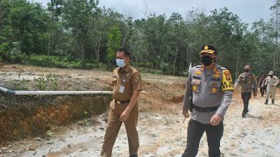 Kapolresta Tinjau Lokasi Semburan Gas di Pondok Pesantren Al-Ikhsan