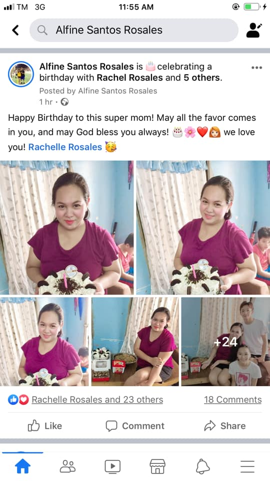 Woman blasted by friend for posting photos of birthday celebration