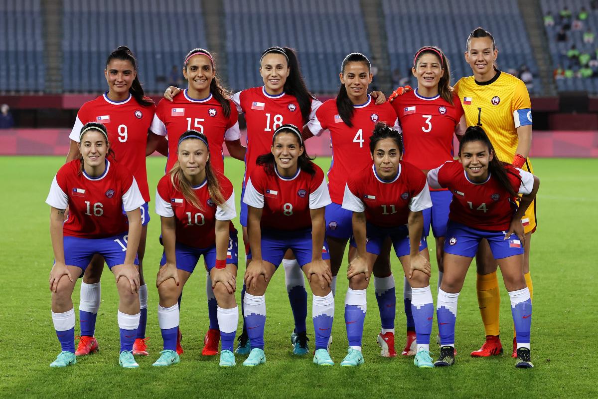 Formación de selección femenina de Chile ante Japón, Juegos Olímpicos de Tokio 2020, 27 de julio de 2021