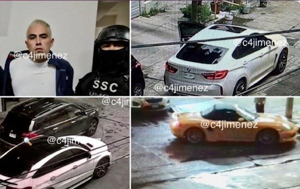Porsche, Audi, BMW, y Mercedes Benz, los «humildes» autos de El Lucas, peligroso criminal de la CDMX