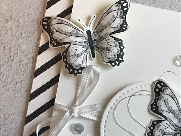 Botanical Butterfly Monochrome Madness.....