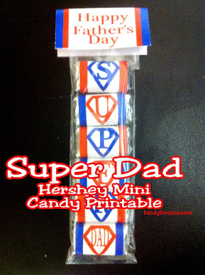 These Hershey mini candy bar wrappers are the perfect treat for the Super Dad in your life.  Simply print, cut, and assemble for an easy Father's Day gift everyone on your list will love.