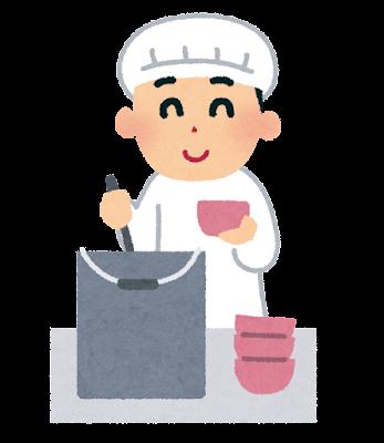 給食係のイラスト