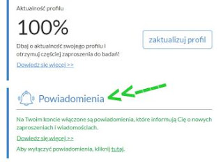 Opinie.pl. powiadomienia o ankietach.
