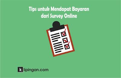 Tips Mendapat Bayaran dari Survei Online