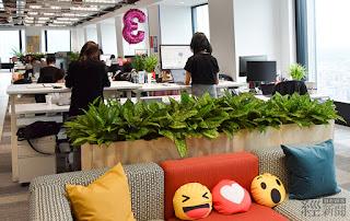 Facebook台北新辦公室環境溫馨舒適