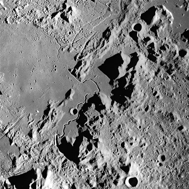 Image of Hadley Rille taken during Apollo 15 mission (Source: Wikipedia)
