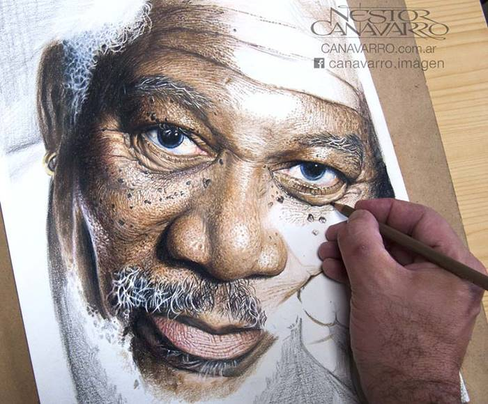 Stunning Hyper-Realistic Pencil Color Portraits By Nestor Canavarro