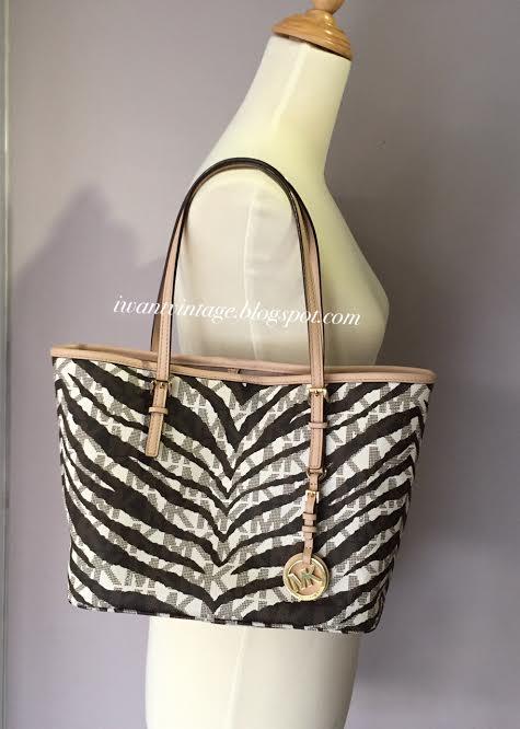 86f9abd3243c7b I Want Vintage | Vintage Designer Handbags: Michael Kors Zebra Print ...