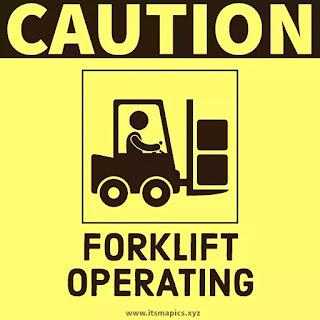 caution forklift trucks operating sign