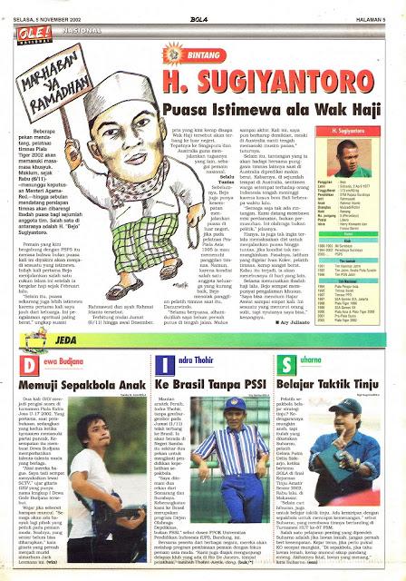 LIGA INDONESIA PROFIL BINTANG H. SUGIYANTORO
