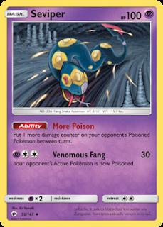 Seviper Burning Shadows Pokemon Card