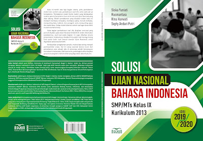 Buku soal Solusi UN 2020 Mata Pelajaran Bahasa Indonesia untuk SMP/MTs Kelas IX Berdasarkan Kurikulum 2013
