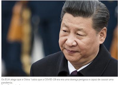 VAI TER GUERRA? EUA abre ação contra China pela pandemia do coronavírus e depois pode sequestrar recursos chineses pelo mundo para pagar os prejuízos