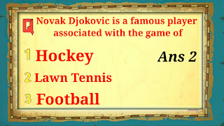 Q4. Novak Djokovic is a famous player associated with the game of