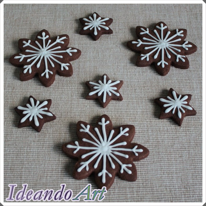 Galletas chocolate copos nieve