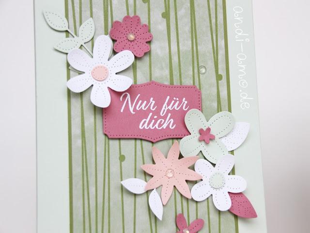 Stampin Up Perforierte Blumen Herzenssache