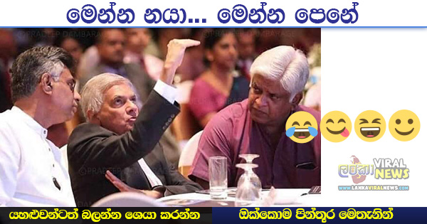 Ranil Wickramasinghe Snake Action funny