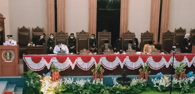 DPRD Lampung Timur Gelar Rapat Paripurna Pidato Sambutan Bupati Terpilih Tahun 2021-2024