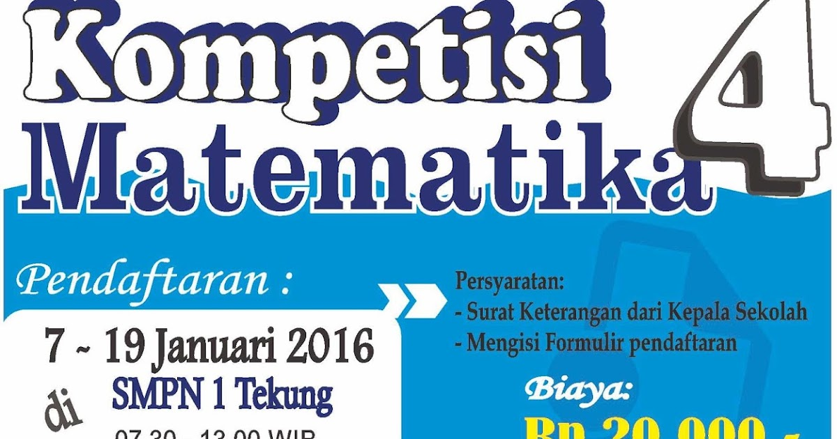 Mgmp Matematika Smp Kabupaten Lumajang Hasil Kompetisi Matematika 4