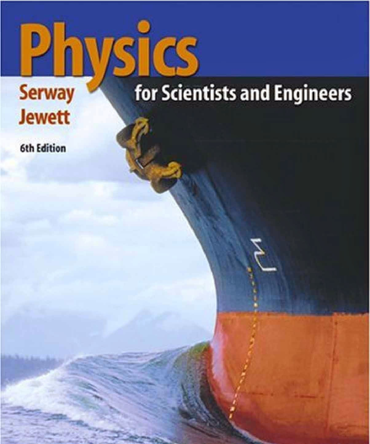 Pdf Books Physics For Scientists And Engineers By Serway And Jewett