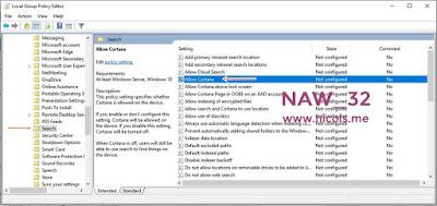 Cara Aktifkan/Nonaktifkan Cortana Di Windows 10