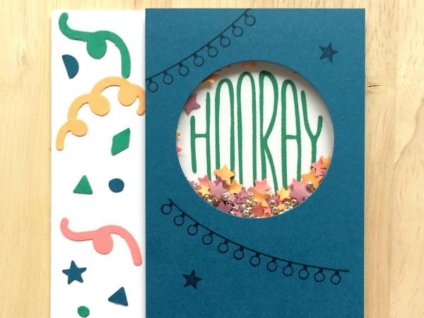 Confetti Celebration Shaker Card in Dapper Denim - Part of the In Color Club 2016-2018 Design Series