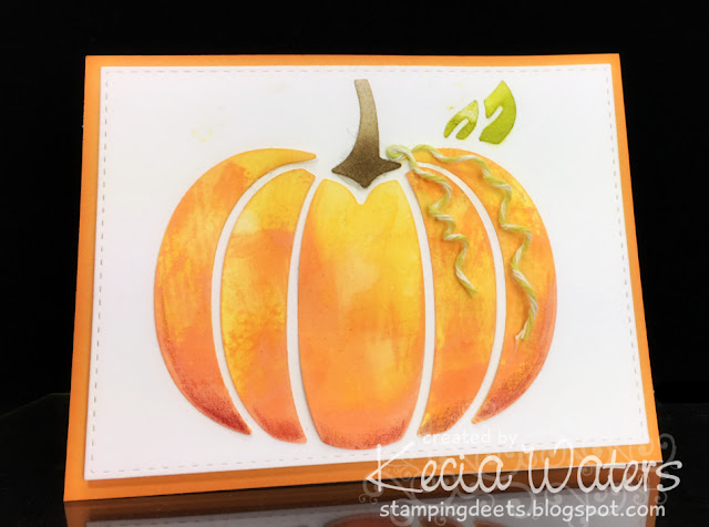 Gina Marie Designs, Kecia Waters, Distress Oxides, pumpkin