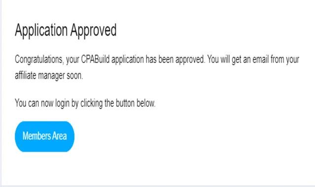 رسالة القبول في شركة cpabuild