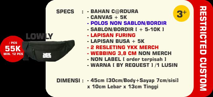 Harga Bikin Waistbag Custom Jogja Yogyakarta