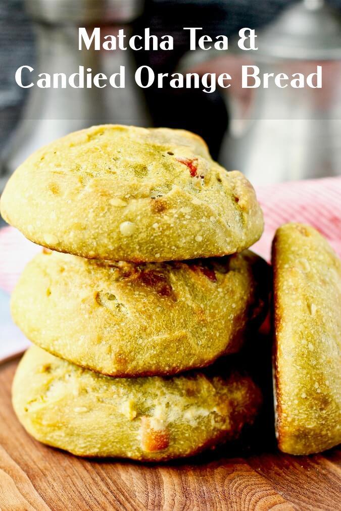 Sourdough Green Tea and Candied Kumquat Bread