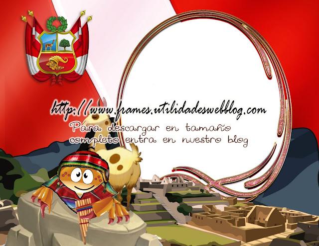 Marco de bandera, escudo y tradiciones de Perú