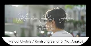 Melodi Mundur Alon Alon Ukulele / Kentrung Senar 3 Not Angka