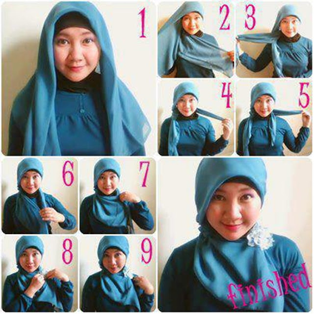Tips Memakai Jilbab Untuk Wajah Chaby