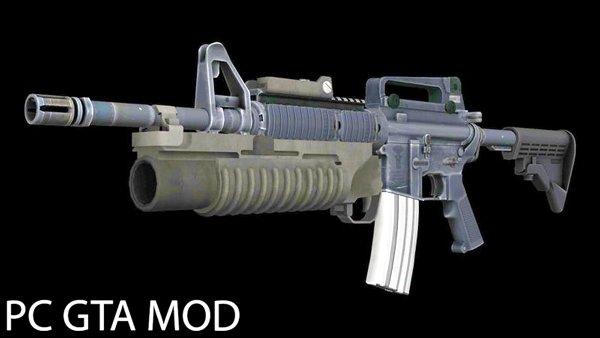 Free Download  M4 with M203 Mod for GTA San Andreas.