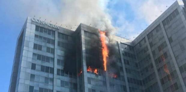 México.- Este sábado se registró un aparatoso incendio en un edificio de la Comisión Nacional del Agua (Conagua) de la Ciudad de México, sin que hasta el momento se reporten lesionados.