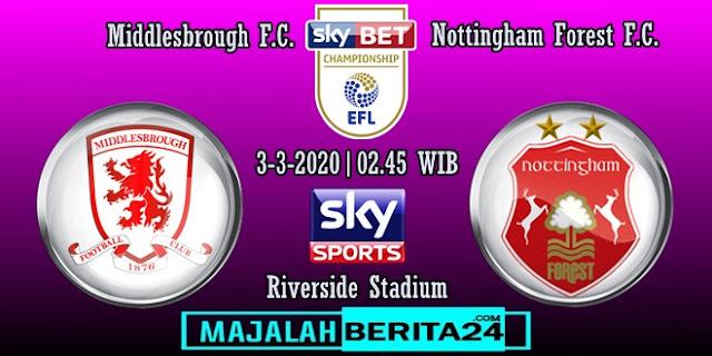 Prediksi Middlesbrough vs Nottingham Forest