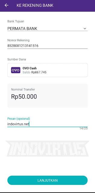 Untuk nomor rekening masukkan kode bank 8528 + No Telepon yang kamu gunakan pada akun DANA