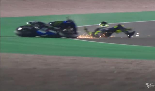 Valentino Rossi Kecelakaan Hari Ketiga Tes MotoGP di Qatar ini Penyebabnya