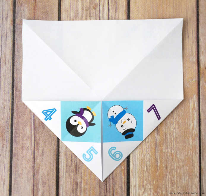 Free Printable Winter Joke Cootie Catcher