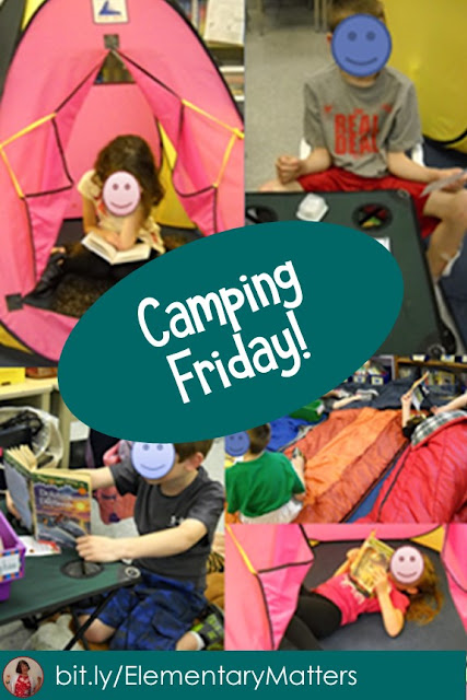 Camping Friday! We celebrated our learning all week with a camping theme. See what we did!