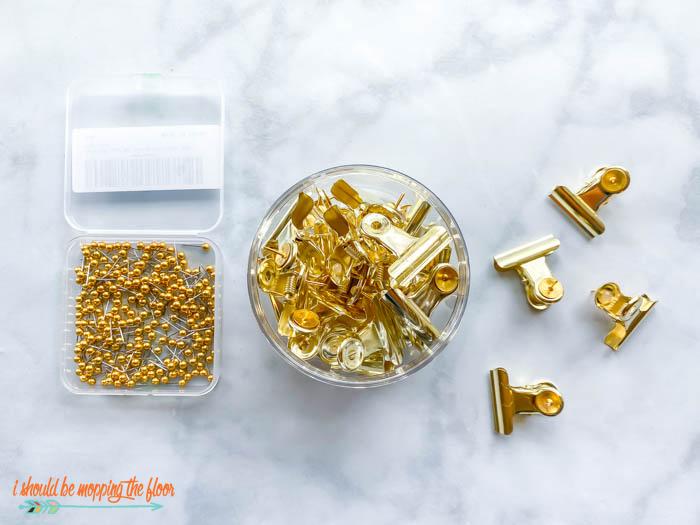 Gold Thumbtacks